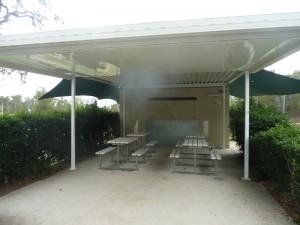 BBQ and picnic tables at Brien Harris Park