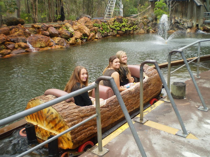 Ready for the Rocky Hollow Log Ride