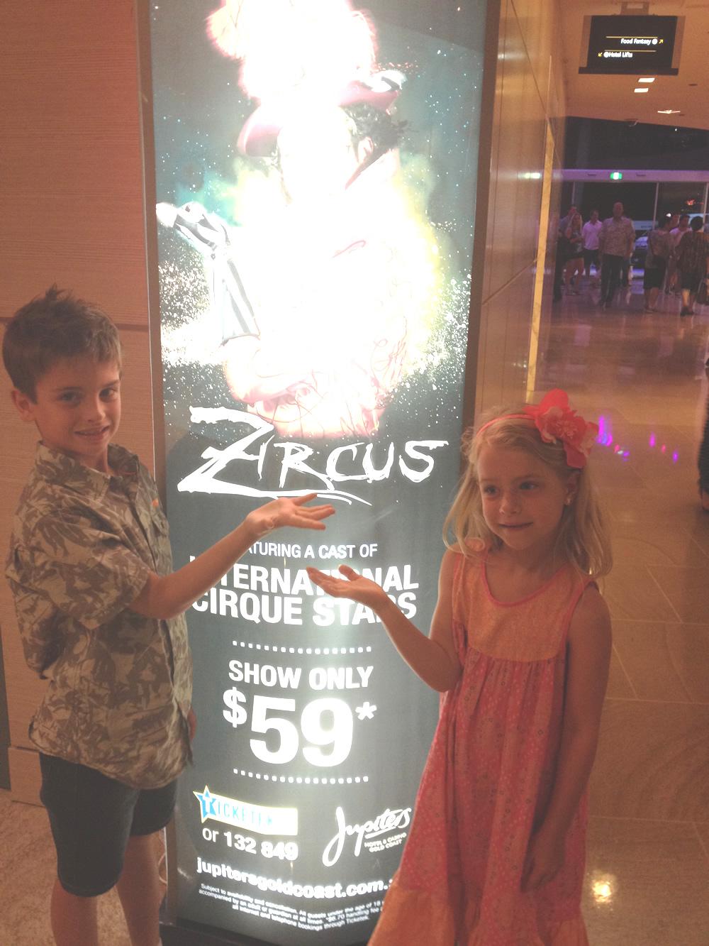 Lahana and Zane enjoying Zircus at Jupiters Hotel & Casino